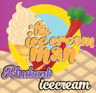 Rhubarb Icecream Concentrate - 30ml The Icecream Man