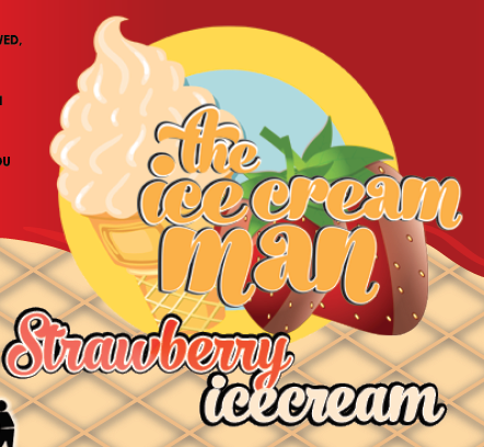 Strawberry Icecream Concentrate - 30ml The Icecream Man