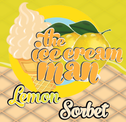 Lemon Sorbet Icecream Concentrate - 30ml The Icecream Man