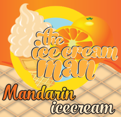 Mandarin Icecream Concentrate - 30ml The Icecream Man