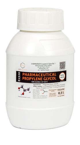Nic Base PG-0 Pure Propylene Glycol - 500ml - Chemnovatic