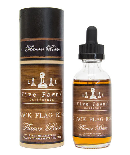 Five Pawns Black Flag Risen - 50ml Glass Bottle 60ml - (Preparado para adicionar 10ml NicShot)