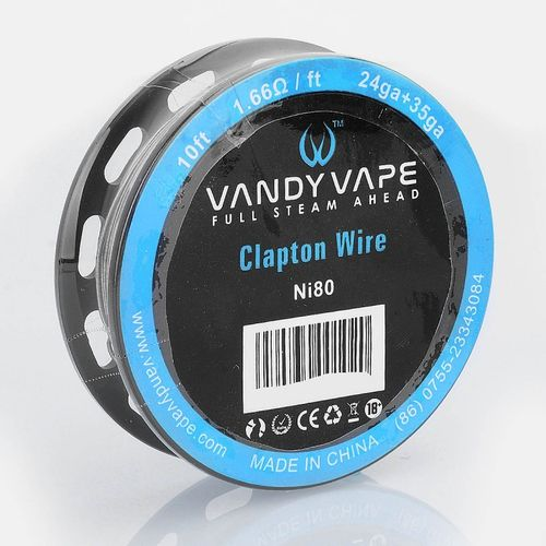 Ni80 Clapton Wire - 24GA + 35GA 3m (10 Feet) by Vandy Vape