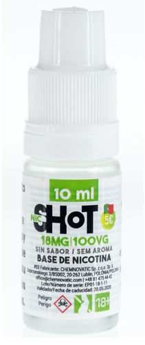NicShot FULL VG 10ml TPD 18mg Nicotina