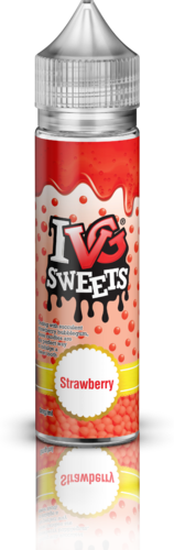 I VG Strawberry Sweets - 50ml em Unicorn bottle 60ml - (NicShot Ready)
