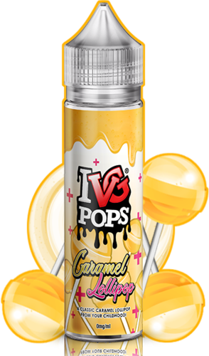 I VG POPS Caramel Lollipops - 50ml em Unicorn bottle 60ml - (NicShot Ready)