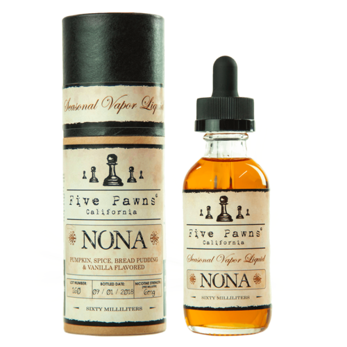 Five Pawns Nona - 50ml Glass Bottle 60ml - (Preparado para adicionar 10ml NicShot)