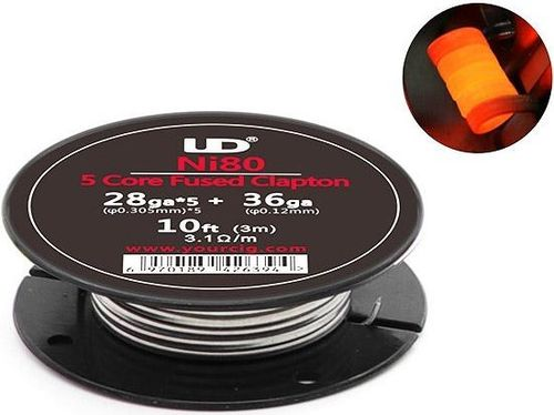 Youde NI80 5core clapton wire (3m/Roll)