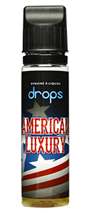 Drops American Luxury - 50ml em Unicorn bottle 60ml - (Preparado para adicionar 10ml NicShot)