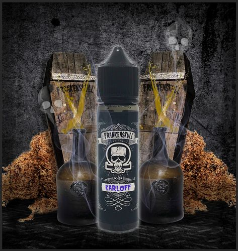FrankenSkull KARLOFF- 50ml em Unicorn bottle 60ml - (Preparado para adicionar 10ml NicShot)