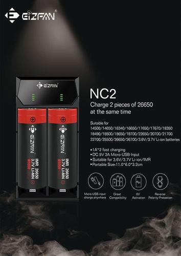 Efan NC2 2-bay Intelligent Charger