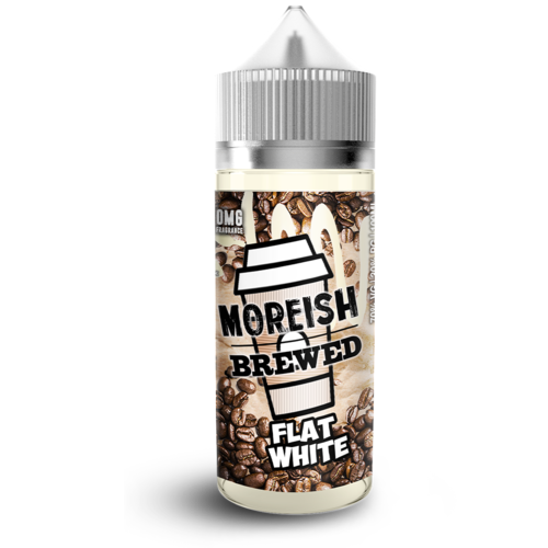 Moreish Brewed Flat White Short Fill - 100ml em Unicorn bottle 120ml