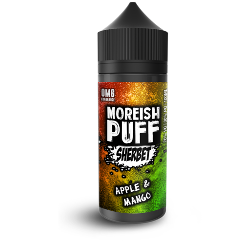 Moreish Puff Apple & Mango Sherbet Short Fill - 100ml em Unicorn bottle 120ml
