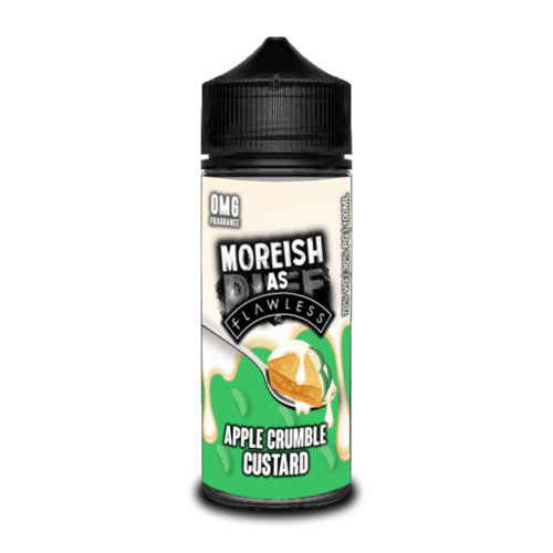 Moreish As Flawless Apple Crumble Custard Short Fill - 100ml em Unicorn bottle 120ml