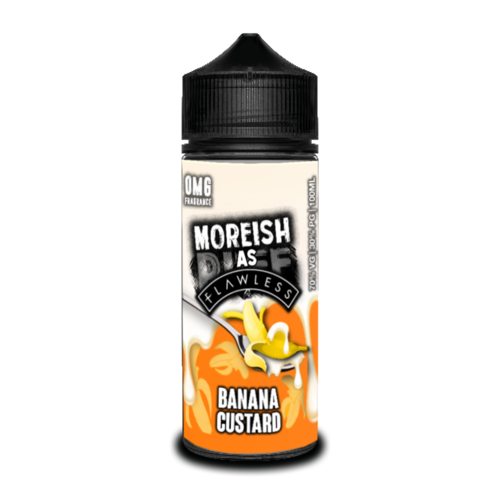 Moreish As Flawless Banana Custard Short Fill - 100ml em Unicorn bottle 120ml