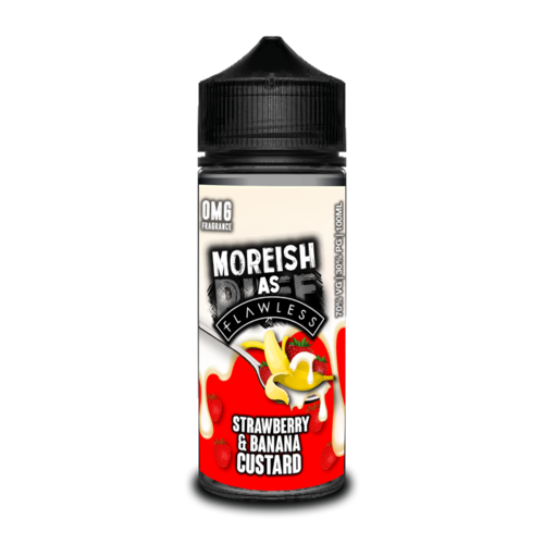 Moreish As Flawless Strawberry Banana Custard Short Fill - 100ml em Unicorn bottle 120ml