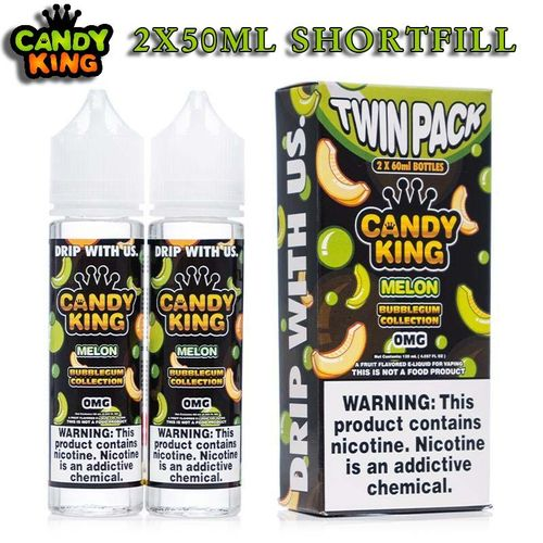 Bubblegum Collection by Candy King - Melon TWIN PACK 2X50ml - (Preparado NicShot)