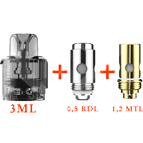 Innokin Sceptre replacement Pod 3ml + 2 coils (1,2 ohm + 0,5 ohm)